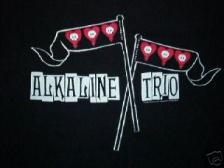 vtg ALKALINE TRIO CONCERT SHIRT skull flag punk tour Free USA Ship