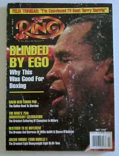 The Ring Magazine July 1997 Sugar Ray Leonard   Inside Felix Trinidad