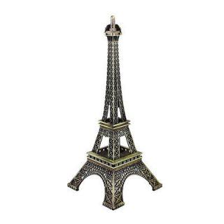 25.5cm Antiqued Bronze Tone France Miniature Eiffel Tower Model Decor