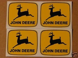 JOHN DEERE 2 inch 2 legged Black Deer Computer Cut DECALS Tractor