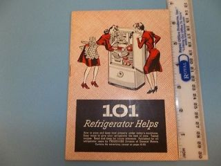 Frigidaire Refrigerator Dayton OH 101 Refrig Helps Recipes 1944