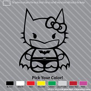 To The Dark Knight Kitty Die Cut Vinyl Decal 5 Batman Laptop Sticker