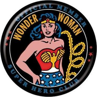 Button Pin Badge DC Comics Wonder Woman Retro AB9