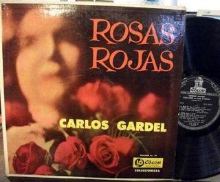 CARLOS GARDEL ROSAS ROJAS A MEDIA LUZ RARE ARGENTINA TANGO LP