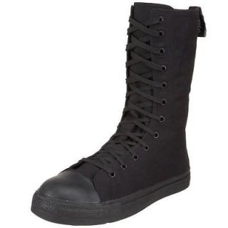Demonia Black Canvas Mens Calf Steel Toe Sneaker Boot TYRANT 201ST/B