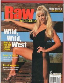 WWE WWF RAW Divas female wrestling magazine DEBRA w/Poster 12 00