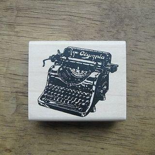 Decorative Stamps Rubber Stamp_Antique Typewriter