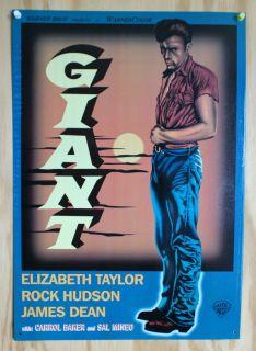 James Dean Giant Movie Ad Tin Sign Liz Taylor 50s WB Warner Bros Film
