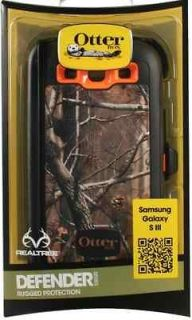 OTTERBOX DEFENDER CASE & BELT CLIP GALAXY S3 AP BLAZED TREE CAMO STYLE