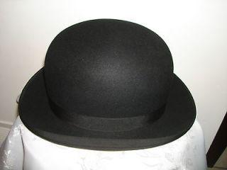 COMFORT BEAVER STETSON FLEXIBLE CHARLIE CHAPLIN FELT BOWLER DERBY HAT