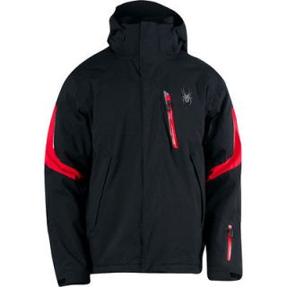 NEW SPYDER RIVAL JACKET BLACK RED MEN S SMALL SKI AUTHENTIC FAST SHIP
