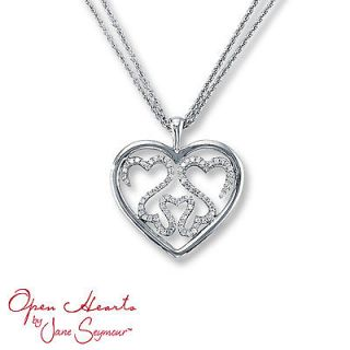 Jane Seymour Open Hearts Diamond Family Necklace Pendant