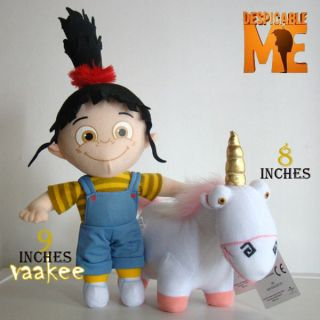 Despicable Me Unicorn & Girl Agnes 2PCS Plush Doll Stuffed Animal Cute