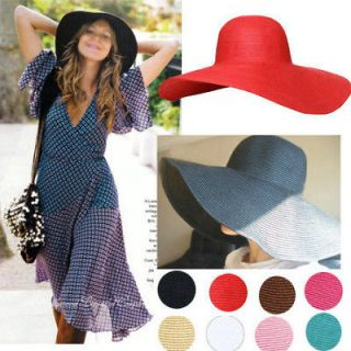 Wide Large Brim Floppy beach Hat