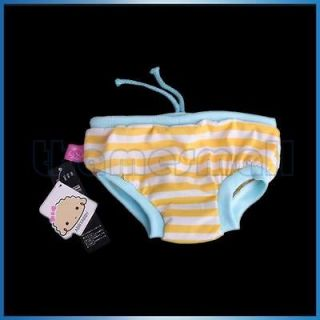 Dog Striped Pattern Sanitary Pant Shorts Diaper Briefs Panties Size L