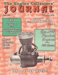 Cox .049 190 Drone Diesel Dyna Jet Engine Collectors Journal 129