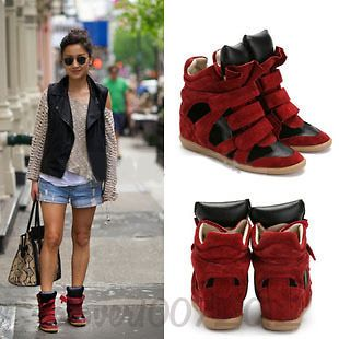 100% Leather Wedge Sneaker casual NEW ISABEL MARANT boots US5 9 EUR35