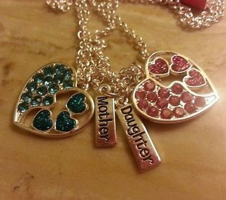 justice for girls mother daughter 2 heart necklaces Valentines day