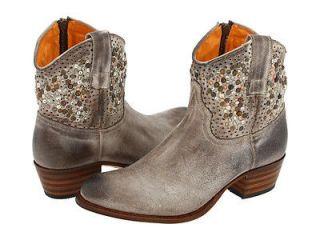 FRYE Womens Deborah Studded Short Leather Boots NEW Size 8 Grey $498
