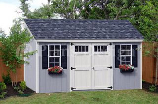16 Utility Garden Storage Deluxe Shed Plans, Lean To Roof Style