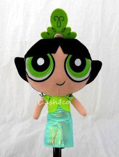 Girls plush Doll Buttercup with long dress & tiara 8 tall green