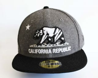 New Era 5950   California Republic Charcoal/White /Black  Official