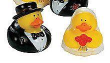 Wedding BRIDE & GROOM Rubber Duck Duckies Cupcake Cake Topper GIFT