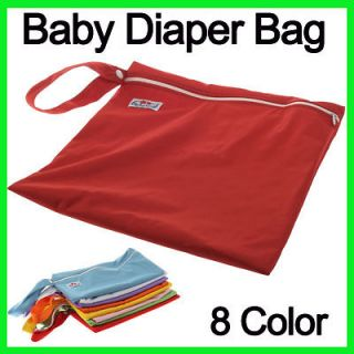 Zipper Baby Wet Dry Cloth Diaper Nappy Bag Washable Reusable Case