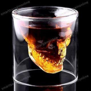 Crystal Skull Skeleton Deaths Head Whiskey Vodka Shot Glass Mug Drink