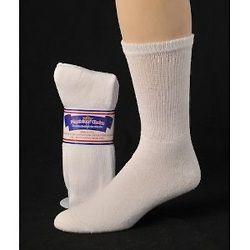 Diabetic Socks 12 Pair, Choice of White, Black, Khaki, Dark Brown