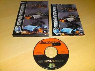 DESTRUCTION DERBY Sega Saturn Game (COMPLETE) Stock Car Smashem Up