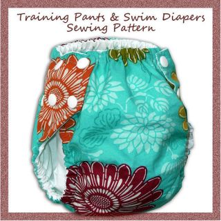 Sewing Pattern for Reusable Cloth Pull up & Swim Diaper