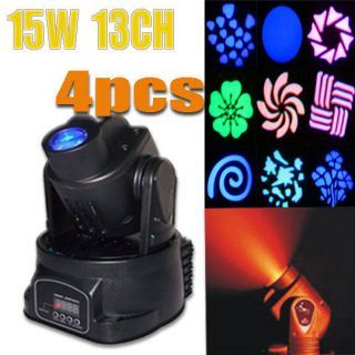 MINI MOVING HEAD LED Light lighting Party DJ club 15W 13channel DMX512