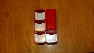 HOF Red Plastic Desk Organizer #7412 4 Drawers 5 Tall 3 Deep