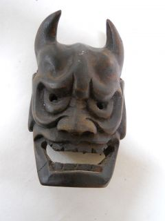 WOOD MASK NOMEN NOH DANCE HANYA DEVIL ONI HORNED DEMON tattoo