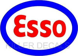 12 ESSO GASOLINE GAS PUMP OIL TANK DECAL BY EXXON