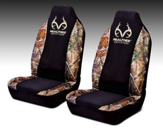 REALTREE CAMOUFLAGE UNIVERSAL SPANDEX BUCKET SEAT COVERS