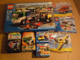 NEW! Lot of 8 Lego City Creator Sets Truck Mini Helicoptor Airplane