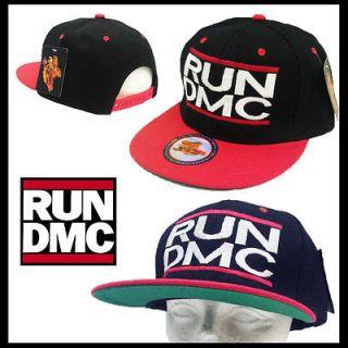 RUN DMC*** RUN DMC JMJ Rap Hip Hop Rock Retro Logo Snapback Cap Hat