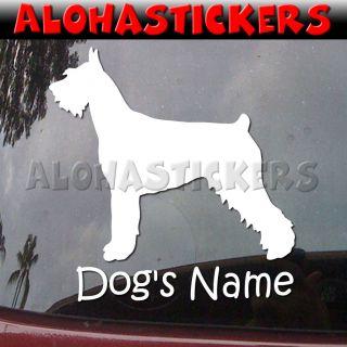 Custom GIANT SCHNAUZER DOG Breed Car Truck Boat Vinyl Decal Window