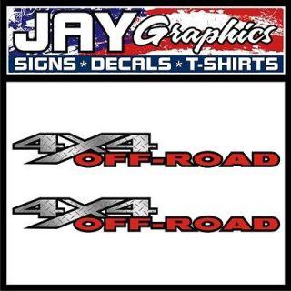 Diamond Plate 4x4 Off Road Vinyl Decals / Stickers Dodge Ram Big Horn