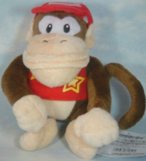 Newly listed super mario bros diddy kong 6 soft plush doll toy
