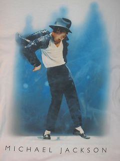 MICHAEL JACKSON POP MUSIC album tour hat glove MENS White NEW T Shirt