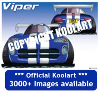 Koolart Chrysler Dodge Viper Case for iPhone 4 4S 5 FREE P&P 2585