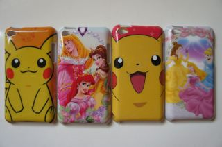 Pokemon and Disney Princesses Hard Cover Case for iPod Touch 4   Set