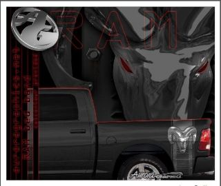 Dodge Ram truck bed band decal graphic