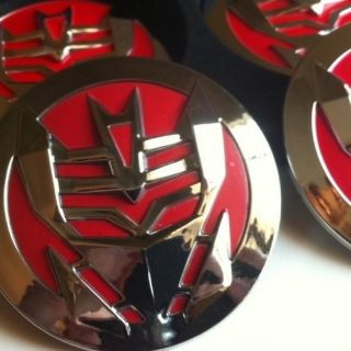 Steering Wheel Emblem Red Decepticon Badge Cap Chevy Ford Dodge