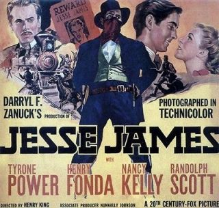 JESSE JAMES MOVIE POSTER Tyrone Power   Henry Fonda