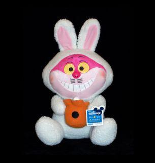 Disney Alice in Wonderland Cheshire Cat Plush Doll wearing Easter