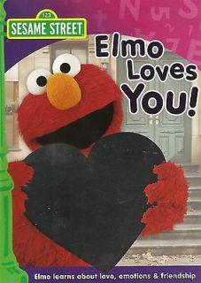 Sesame Street   Elmo Loves You   DVD   New Unopened